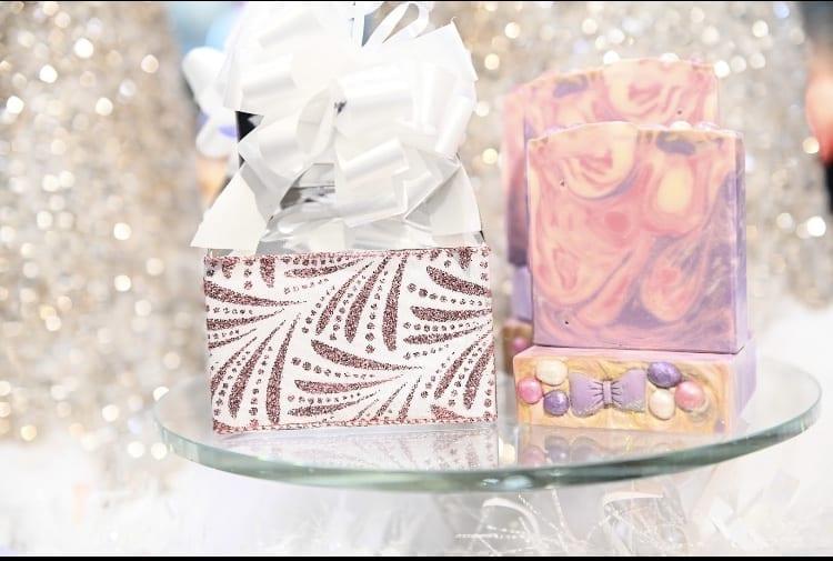 Rose Gold & White Swirl Gift Box