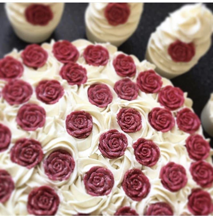 Red Rose Soap Cake