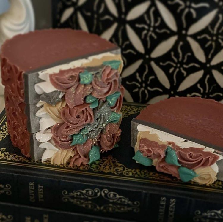 Cranberry Fig Log Designer Soap